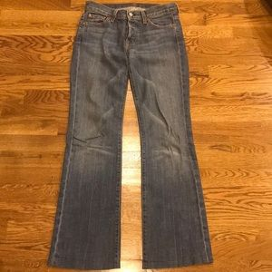 7 for All Mankind Boy Cut Button Fly Jeans Sz 26